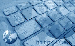 globala internet för bakgrund stock illustrationer