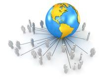 globala kommunikationer Arkivfoto