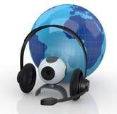 Globala kommunikationer för internet Arkivbilder