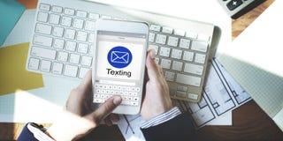 Globala kommunikationer för mejl som knyter kontakt anslutningsteknologi Co Royaltyfri Foto