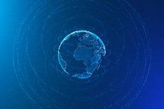 Globala kommunikationer och affärsidé arkivbilder