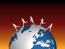 globala löpare stock illustrationer