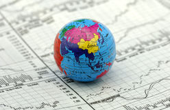 globala marknader Royaltyfria Foton