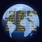 Globala netto kommunikationer Royaltyfri Bild