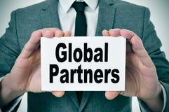 Globala partners Arkivfoton