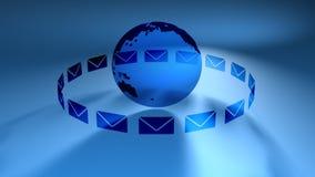 Globala postblått (HD-öglan) vektor illustrationer