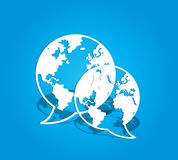 Globala sociala massmediakommunikationer Arkivfoto