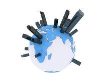 globala städer vektor illustrationer