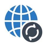 Globala tillbakaläggandeskåror dubblerar färgsymbolen royaltyfri illustrationer