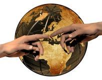 Globale aansluting royalty-vrije stock afbeeldingen