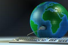 Globale aansluting Stock Afbeelding