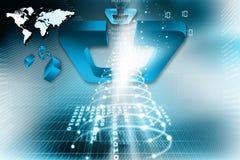 Globale aanslutingen. Digitale aarde Royalty-vrije Stock Foto