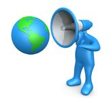 Globale Ansage lizenzfreie abbildung