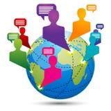Globale Anschlussfähigkeit Stockfoto
