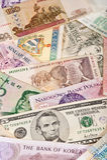 Globale Banknoten Stockfotografie