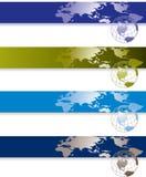 Globale banners Royalty-vrije Stock Afbeeldingen