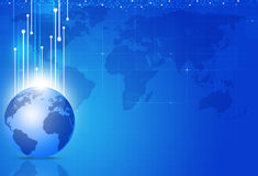 Globale Bedrijfs Blauwe Achtergrond Royalty-vrije Stock Foto