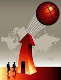 Globale BedrijfsAchtergrond stock illustratie