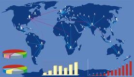 Globale bedrijfskaart Royalty-vrije Stock Foto