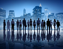 Globale Bedrijfsmensen in de Stad van New York Stock Fotografie