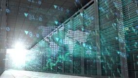 Globale bedrijfsmontering in serverruimte