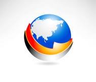 Globale bedrijfspictogrammen Stock Afbeelding