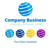 Globale Bedrijfzaken Logo Symbol Stock Afbeelding