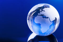 Globale Blauw Royalty-vrije Stock Afbeeldingen