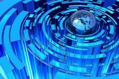 Globale blauwe abstractie Stock Foto's