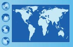Globale blauwe achtergrond Stock Fotografie