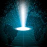 Globale blu binario di tecnologia astratta Fotografia Stock Libera da Diritti