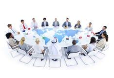 Globale commerciële vergadering Stock Afbeelding