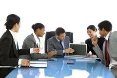 Globale commerciële vergadering stock fotografie