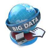 Globale Computerinnovations-Technologie große Daten lizenzfreie abbildung