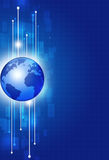 Globale Comunications-Technologieachtergrond Stock Afbeelding