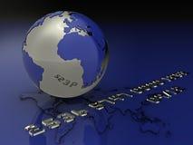Globale creditcardillustratie Royalty-vrije Stock Foto's