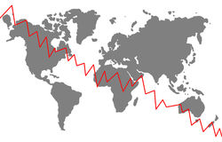 Globale crisis Stock Afbeeldingen