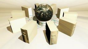 Globale Datenverarbeitungslebhafte Schleife des konzeptes vektor abbildung
