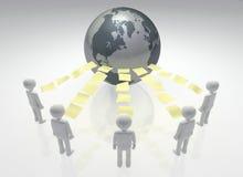 Globale Delende Gemeenschap royalty-vrije illustratie