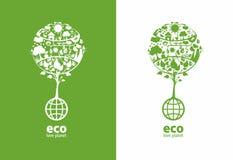 Globale ecologie royalty-vrije illustratie