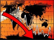 Globale economische crisis Royalty-vrije Stock Foto's