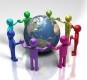 Globale Einheit durch Verschiedenartigkeit Stockbild