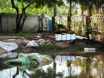 Globale Erwärmung der städtischen Flut Lizenzfreies Stockbild