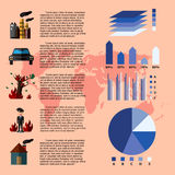 Globale Erwärmung Infographics Stockbilder