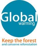 Globale Erwärmung Logo und desaign Stockfoto