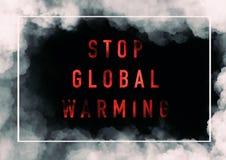 Globale Erw?rmung-Hintergrund stockbild