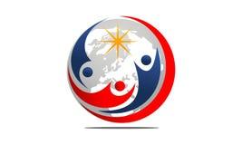 Globale Führung Logo Design Template vektor abbildung