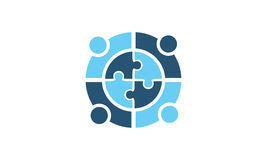 Globale Führungs-Teamwork-Lösungen Lizenzfreie Stockfotografie