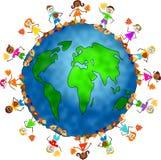 Globale Fallkinder stock abbildung