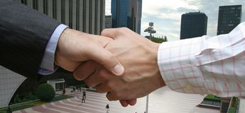 Globale Financiële overeenkomst Royalty-vrije Stock Afbeelding